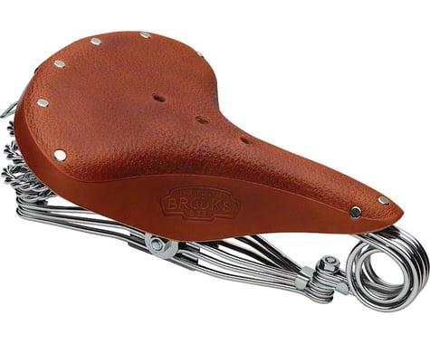 Brooks B33 Triple Rail Saddle (Honey) (Chrome Steel Rails) (235mm)