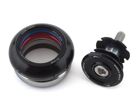 Cane Creek 40 Short Cover Headset (Black) (IS38/25.4) (IS38/26)