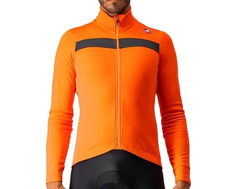 Castelli Puro 3 Long Sleeve Jersey FZ (Orange/Black Reflex) (S)
