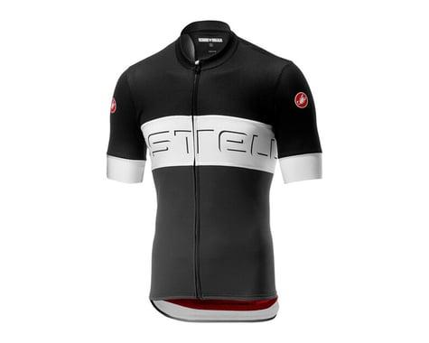 Castelli Prologo VI Short Sleeve Jersey (Black Ivory/Dark Grey) (M)