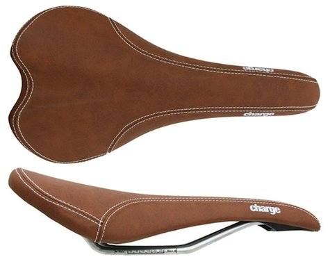 Charge Bikes Spoon Saddle (Brown) (Chromoly Rails) (140mm)