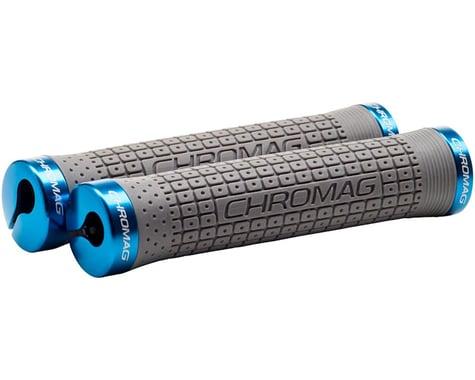 Chromag Clutch Grips (Grey/Blue) (Lock-On)