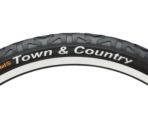 """Continental Town & Country City Tire (Black) (2.1"""") (26"""" / 559 ISO)"""