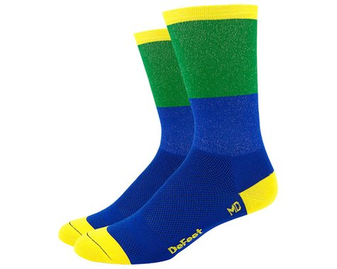 "DeFeet Aireator 6"" Socks (Blue/Green) (M)"