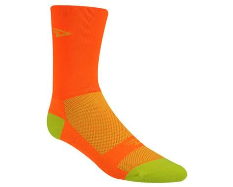 """DeFeet Aireator 5"""" Hi Top Socks (Orange/Yellow) (M)"""