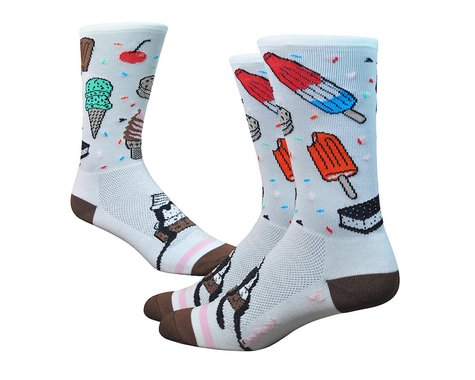 """DeFeet Aireator 6"""" iSCREAM (White/Brown/Pink) (L)"""