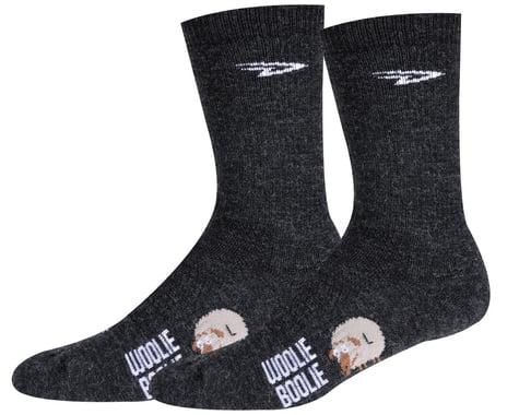 """DeFeet Woolie Boolie 6"""" D-Logo Sock (Charcoal) (XL)"""