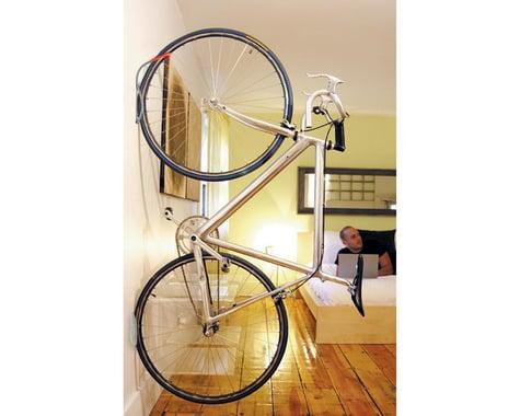 Delta Leonardo Wall Storage Rack (Silver/Red) (w/ Wheel Tray) (1 Bike)