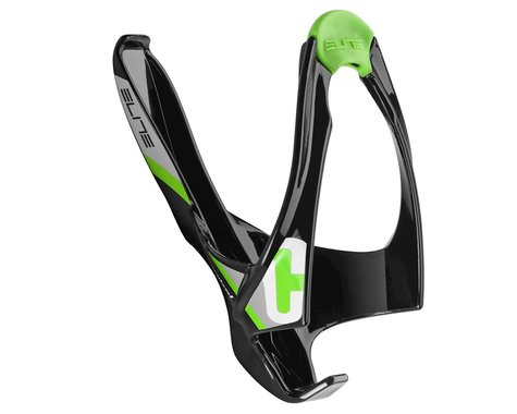 Elite Cannibal Lateral Entry Water Bottle Cage (Black/Green Logo)