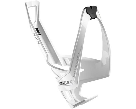 Elite Cannibal XC Water Bottle Cage (Gloss White/Black Graphic)