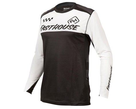 Fasthouse Inc. Alloy Block Long Sleeve Jersey (Black/White) (S)