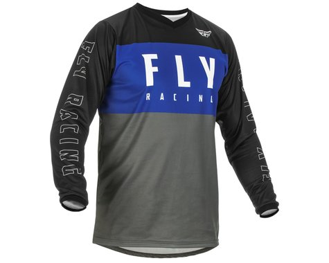 Fly Racing Youth F-16 Jersey (Blue/Grey/Black) (Youth S)