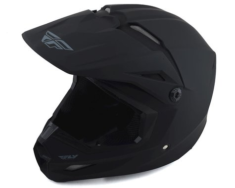 Fly Racing Kinetic Solid Youth Helmet (Matte Black) (Youth S)