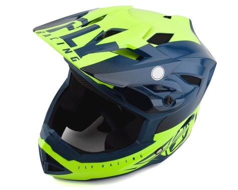 Fly Racing Youth Default Full Face Mountain Bike Helmet (Teal/Hi-Vis Yellow)