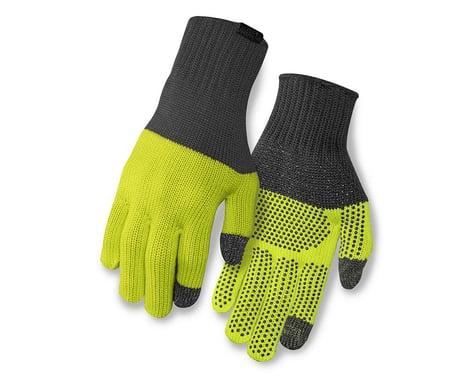 Giro Merino Wool Bike Gloves (Grey/Wild Lime) (L/XL)