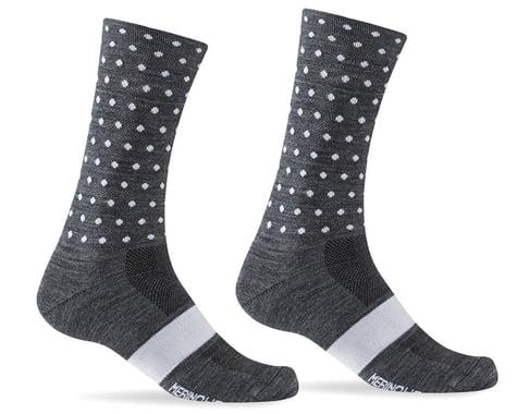 Giro Merino Seasonal Wool Socks (Charcoal/White Dots) (L)