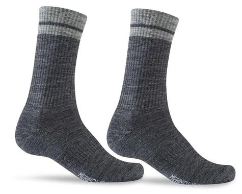 Giro Winter Merino Wool Socks (Charcoal/Grey) (XL)