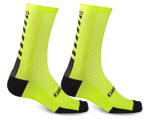 Giro HRc+ Merino Wool Socks (Bright Lime/Black) (L)