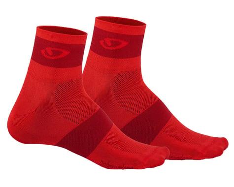 Giro Comp Racer Socks (Bright Red/Dark Red) (S)