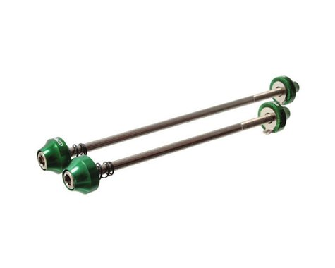 Halo Wheels Hex Key Bolt-On Skewer Set (Green) (100/135mm)