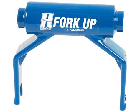 Hurricane Components Fork Up Thru Axle Bike Rack Adapter (Blue) (15 x 100mm)
