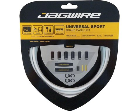 Jagwire Universal Sport Brake Cable Kit (White) (Stainless) (1350/2350mm) (2)