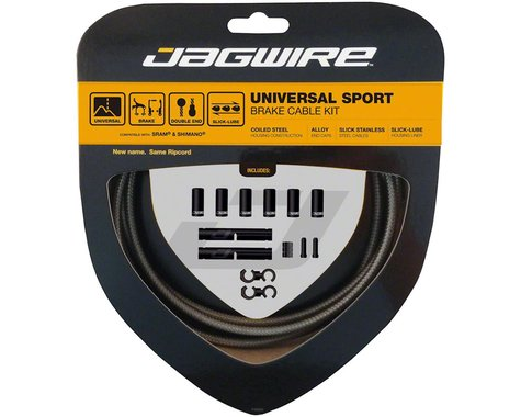 Jagwire Universal Sport Brake Cable Kit (Sterling Silver) (Stainless)