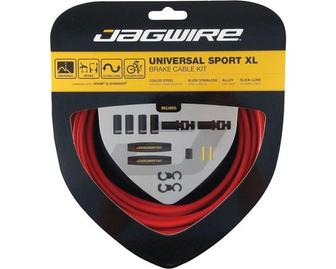 Jagwire Universal XL Sport Brake Cable Kit (Red) (Stainless) (Road & Mountain) (1.5mm) (2000/2500mm)