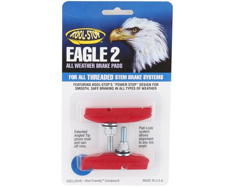 Kool Stop Eagle 2 Brake Pads (Red) (1 Pair)