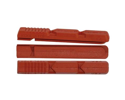 Kool Stop V Type 2 Brake Pad Inserts (Black/Red) (1 Pair) (Salmon Compound)