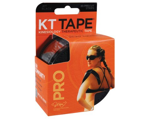 KT Tape Pro Kinesiology Therapeutic Body Tape (Black) (20 Strips/Roll)