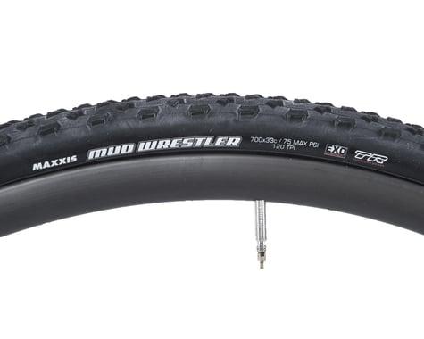 Maxxis Mud Wrestler Tubeless Cross Tire (Black) (33mm) (700c / 622 ISO)