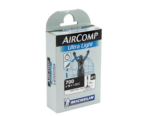 Michelin 700c AirComp Ultra Light Inner Tube (Presta) (18 - 23mm) (60mm)