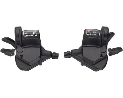 Microshift Mezzo TS39 Thumb-Tap Trigger Shifters (Black) (Pair) (3 x 8 Speed)
