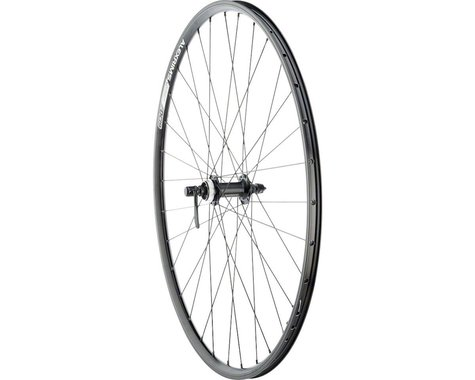 Quality Wheels Value Double Wall Series Disc/Rim Front Wheel (Black) (QR x 100mm) (700c / 622 ISO)