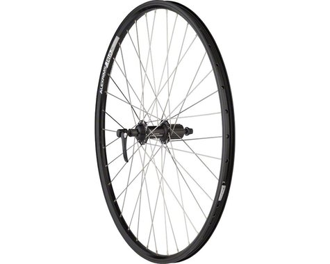 "Quality Wheels Deore/DH19 Mountain Rear Wheel (Black) (Shimano/SRAM) (QR x 135mm) (26"" / 559 ISO)"