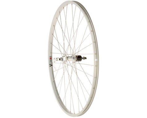 Quality Wheels Value Series Rear Road Wheel (Silver) (Shimano/SRAM) (QR x 130mm) (700c / 622 ISO)