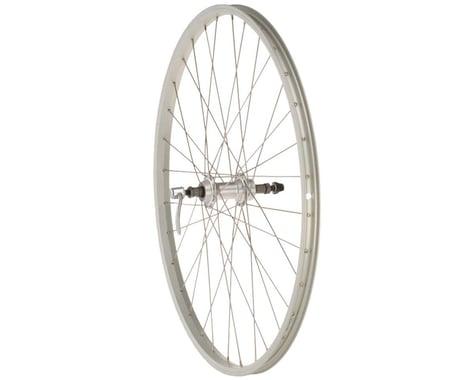 "Quality Wheels Value Single Wall Series Rear Wheel (Silver) (Freewheel) (QR x 135mm) (26"" / 559 ISO)"