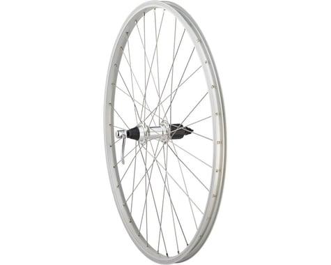 "Quality Wheels Value Single Wall Series Rear Wheel (Silver) (Shimano/SRAM) (QR x 135mm) (26"" / 559 ISO)"
