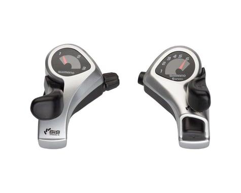 Shimano Tourney SL-TX50 Thumb Shifters (Silver) (Pair) (3 x 6 Speed)