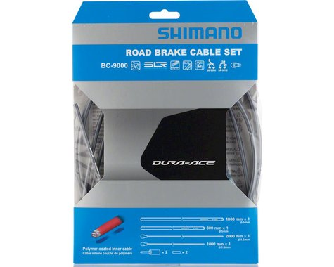 Shimano Dura-Ace BC-9000 Polymer-Coated Road Brake Cable Set (High-Tech Grey)