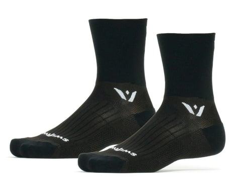 Swiftwick Performance Four Socks (Black) (L)