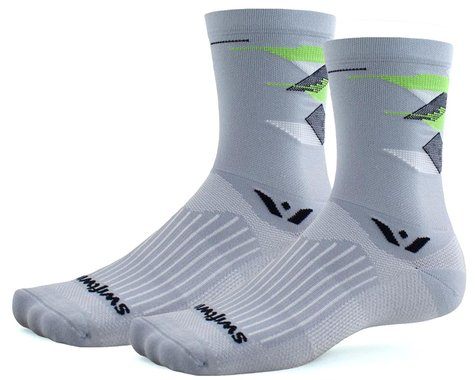 Swiftwick Vision Six Geometry Triangles Socks (Pewter) (S)