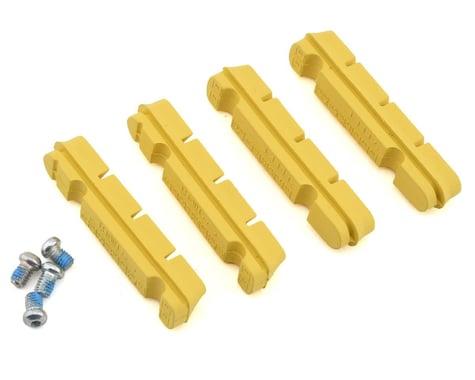 SwissStop Yellow King Flash Pro Carbon Rim Brake Pad Inserts (Yellow) (2 Pairs)