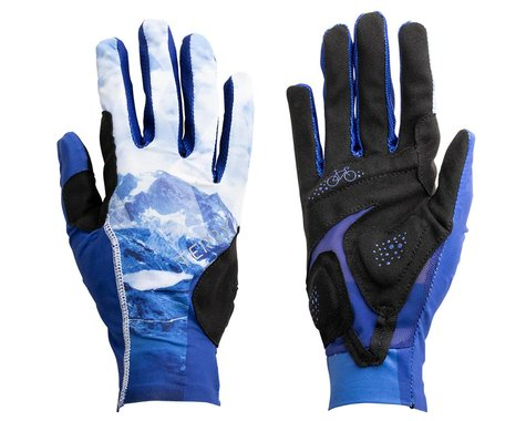 Terry Women's Soleil UPF 50+ Full Finger Gloves (Nivolet/Blue) (S)