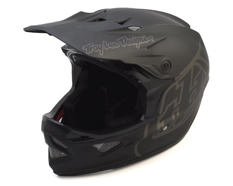 Troy Lee Designs D3 Fiberlite Full Face Helmet (Mono Black) (S)