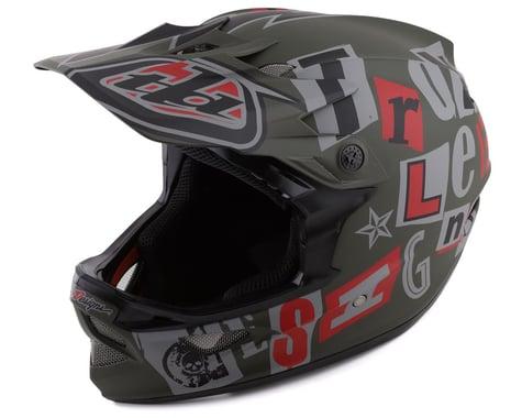Troy Lee Designs D3 Fiberlite Full Face Helmet (Anarchy Olive) (S)