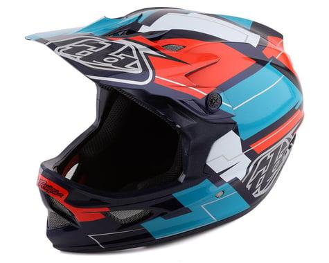 Troy Lee Designs D3 Fiberlite Full Face Helmet (Vertigo Blue/Red) (S)