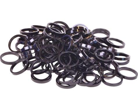 "Wheels Manufacturing 1-1/8"" Headset Spacers (Black) (100) (5mm)"