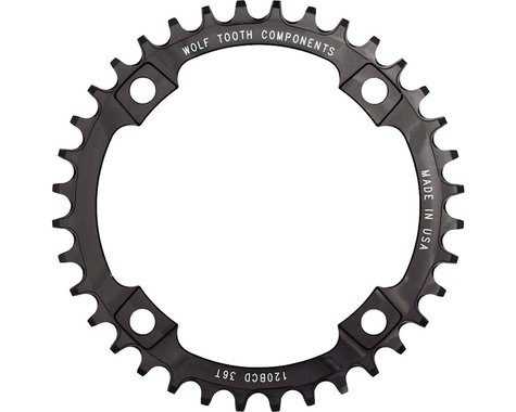 Wolf Tooth Components Drop-Stop Chainring (120mm BCD) (Offset N/A) (36T)